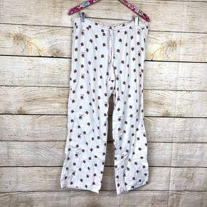 J. Crew mistletoe pj pants size M // I01